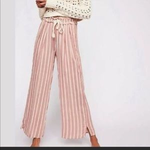 Intimately free people wide leg red and creme pant